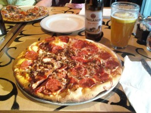 Bazbeaux Pizza_Sausage and Pepperoni Pizza