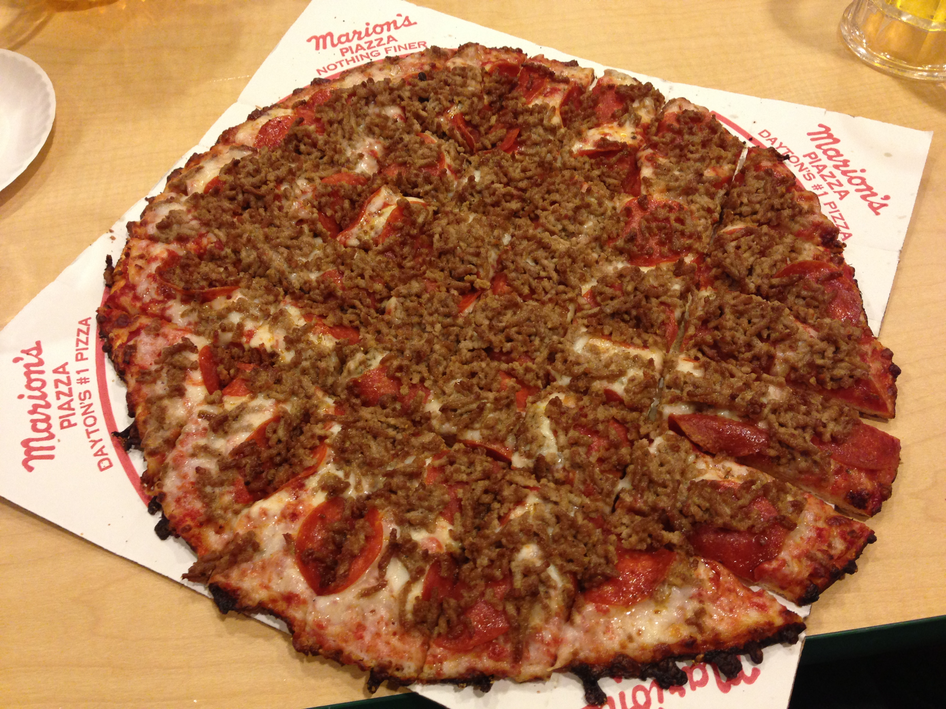 Marion's Piazza in Mason, OH_Sausage and Pepperoni Pizza