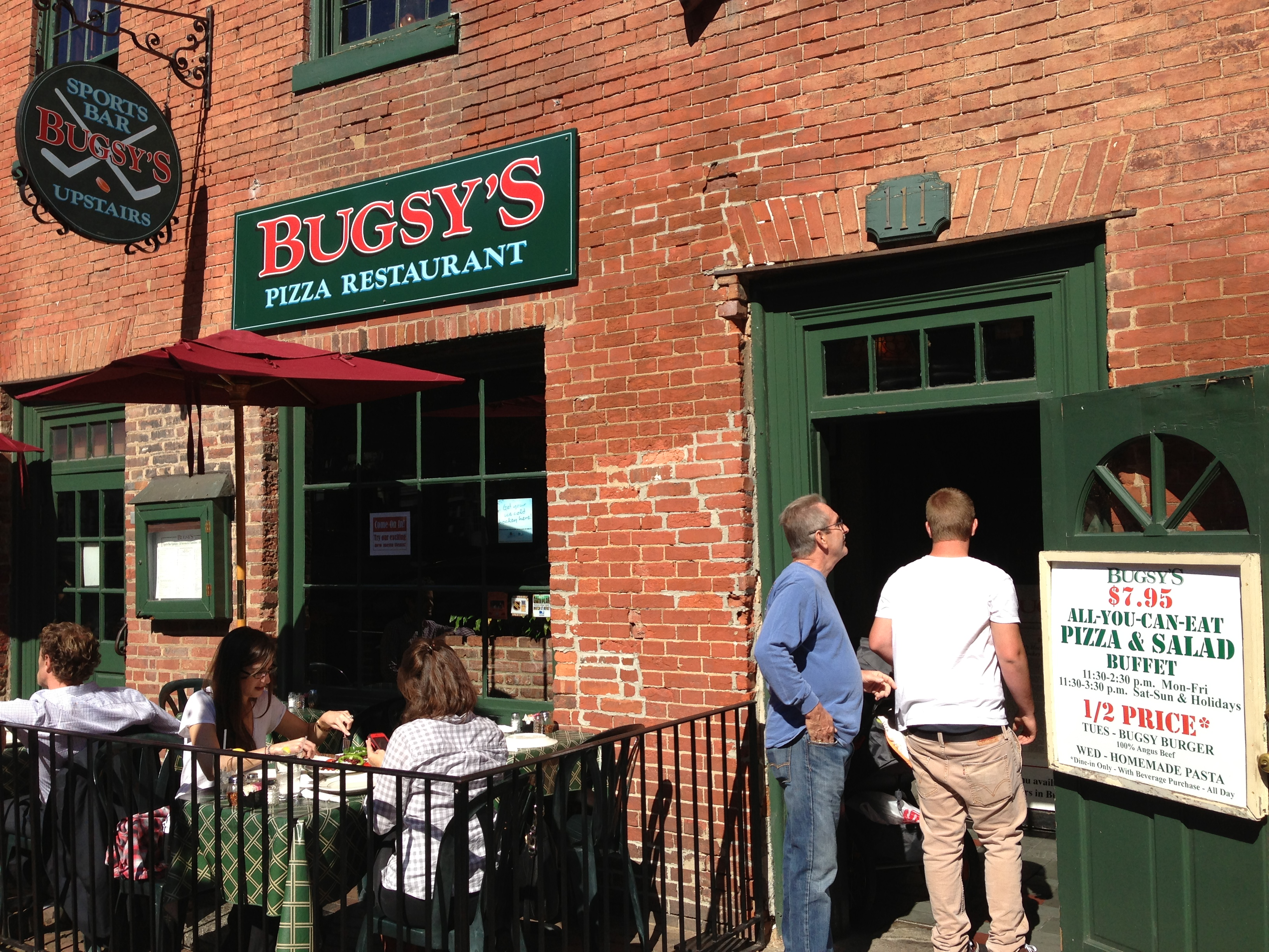 bugsy 39 s pizza restaurant sports bar in alexandria va outside