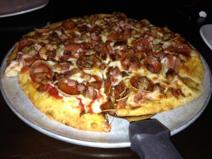Rockstone Pizzeria & Pub in Fishers, IN_Regular Crust Meatzorilla Pizza