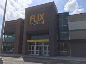 Storefront of Flix Brewhouse